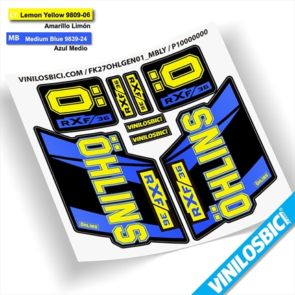 Ohlins RXF 36 pegatinas vinilo adhesivo horquilla fork decals stickers