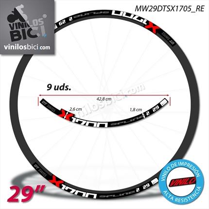 Pegatinas Llantas Bicicleta 29 WH38 DT Swiss VINILOS Ruedas Acuarela