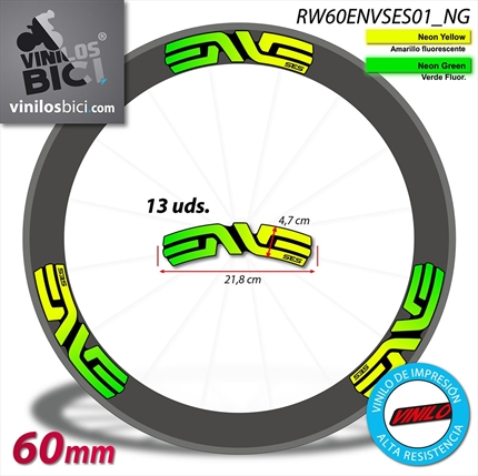 Enve pegatinas vinilo adhesivo llantas 60mm decals stickers calcas