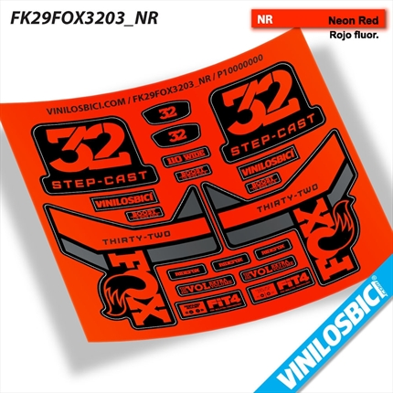 Fox 32 Thirty-Two pegatinas vinilo adhesivo horquilla stickers decals kit fork