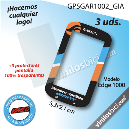 Garmin Edge 1000 vinilos adhesivos, pegatinas garmin, protector garmin, protector gps garmin, Garmin edge stickers , garmin edge 1000 stickers, garmin 1000 stickers, garmin decals, garmin protection,