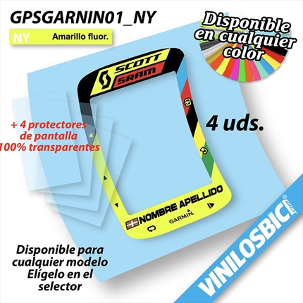 GPS Garmin Edge Touring pegatinas vinilo adhesivo protector, GPS Garmin Edge Touring stickers decal