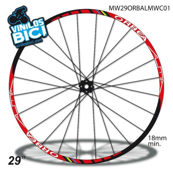 Juego de Adhesivos en Vinilo para Bici ORBEA 12 Pegatinas Cuadro Bici Sticker Decorativo Bicicleta Pegatinas para Bici