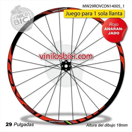 Amarillo Pegatinas Llanta para Bicicleta Trek Ex Fuel 8 MTB 29 Pulgadas Stickers Bike