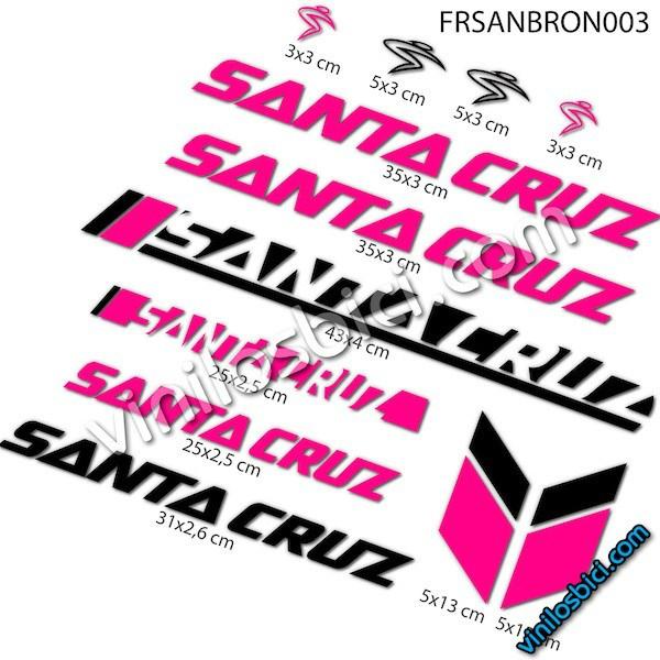 Sticker Decorativo Bicicleta Pegatinas para Bici Juego de Adhesivos en Vinilo para Bici Santa Cruz 2 Pegatinas Cuadro Bici
