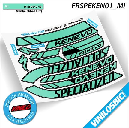 Specialized Kenevo pegatinas vinilo adhesivo para cuadro fame decal kit calcas stickers