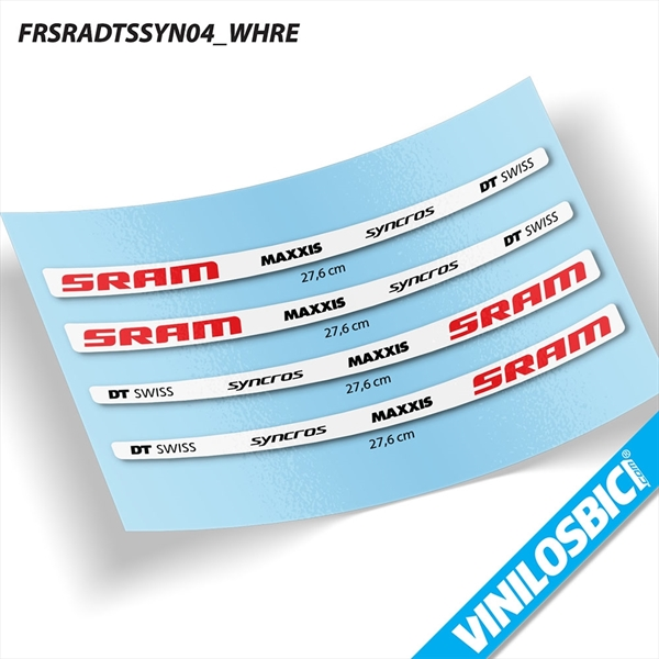 Sram DT Swiss Maxxis Syncross vinilos adhesivos basculante