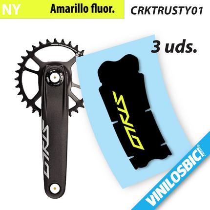 Juego de Adhesivos en Vinilo para Bici SRAM X0 Protector BIELA Pegatina Bici Pegatinas para Bici Sticker Decorativo Bicicleta