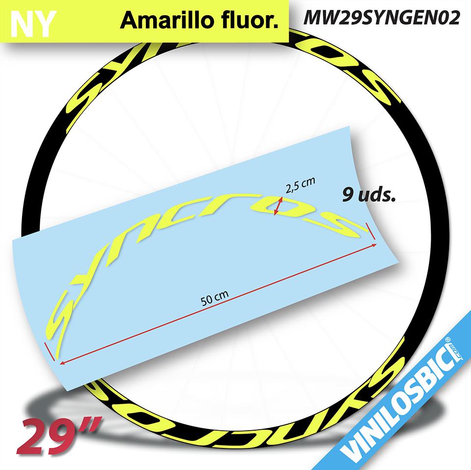 "Syncross vinilos adhesivos llantas 29/"""
