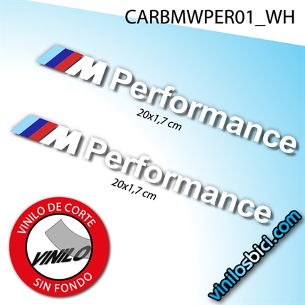pegatinas vinilo adhesivo bmw m performance stickers decals